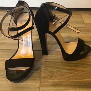 Christian Louboutin Black Strappy Heels